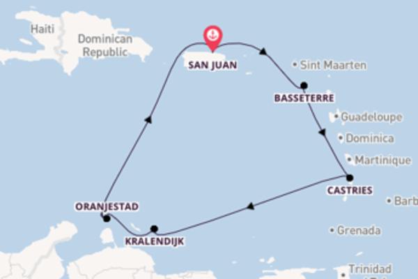 8-daagse cruise vanaf San Juan