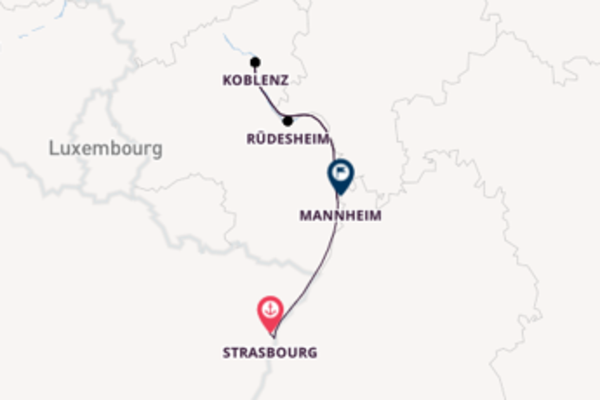 5 day cruise with the Douce France to Mannheim