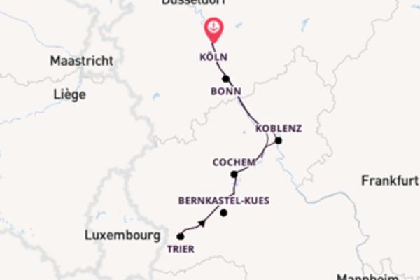 Rhein und Mosel entdecken ab/bis Köln