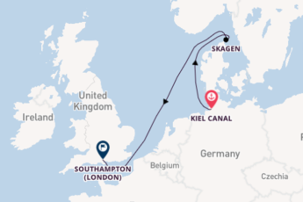 Voyage with the Queen Victoria from Kiel Canal