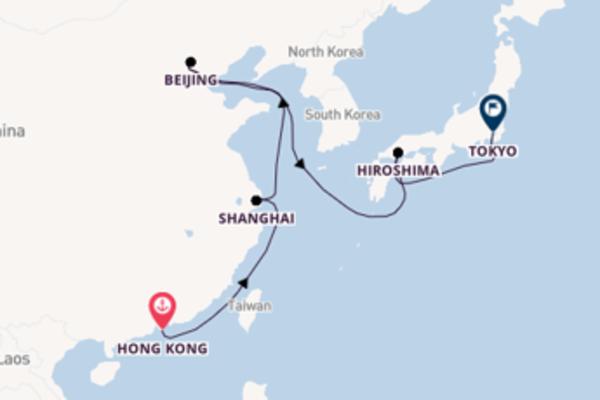 Sailing to Tokyo from Hong Kong