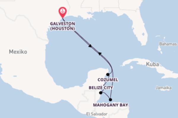 9-tägige Kreuzfahrt ab Galveston (Houston)