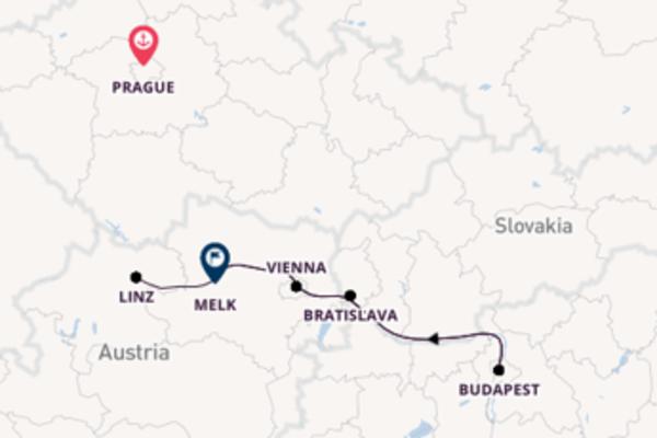 Cruising to Melk from Prague