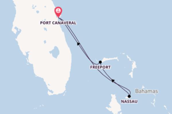 5 jours de navigation à bord du bateau Carnival Liberty depuis Port Canaveral