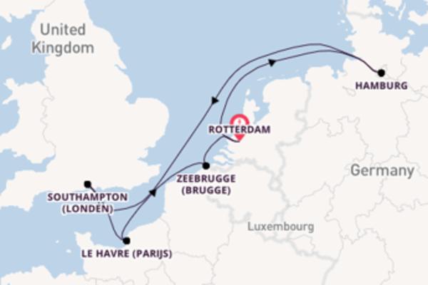 Vaar met de AIDAsol naar Rotterdam