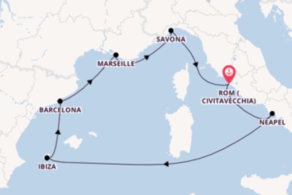 8 Tage Mittelmeer Kreuzfahrt