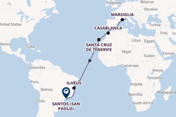 Viaggio di 18 giorni a bordo di Costa Favolosa