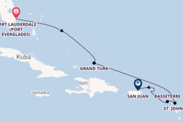 In 8 Tagen nach San Juan über Grand Turk
