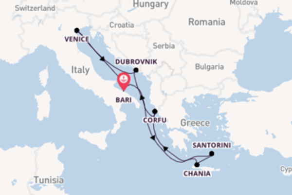Expedition with MSC Cruises from Bari
