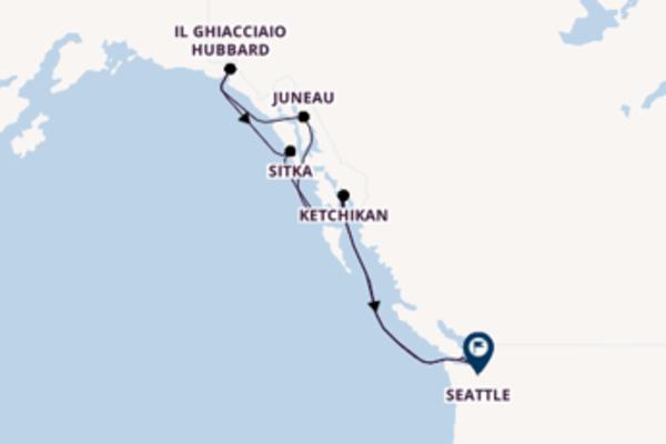 8 giorni di crociera da Seattle