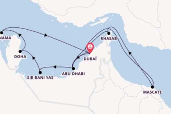 Ressentez à bord du bateau Oceana , la destination: Khasab