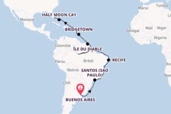 Manaus depuis Buenos Aires pour une croisière de 35 jours