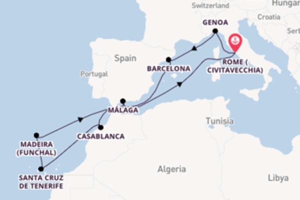 Voyage with the MSC Magnifica from Civitavecchia