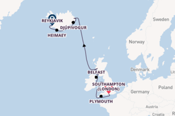 Cruising with the Silver Whisper to Reykjavik from Southampton (London)