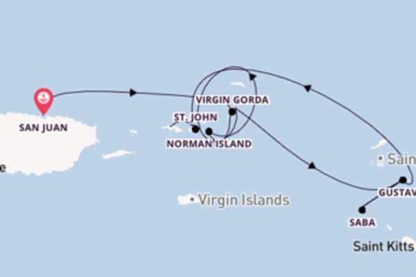 8-daagse cruise met de SeaDream I vanuit San Juan