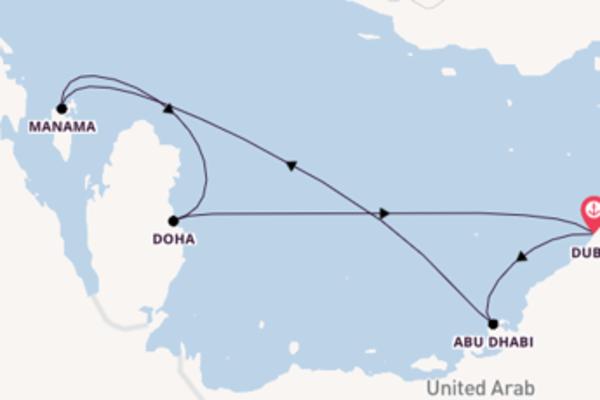Vaar met de Mein Schiff 6 naar Dubai
