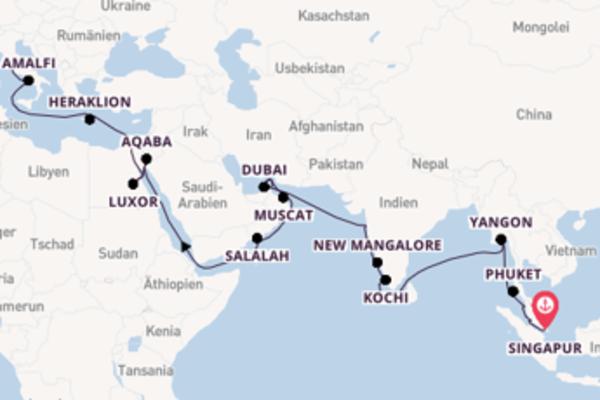 Beeindruckende Reise über Mormugao/ Goa in 39 Tagen