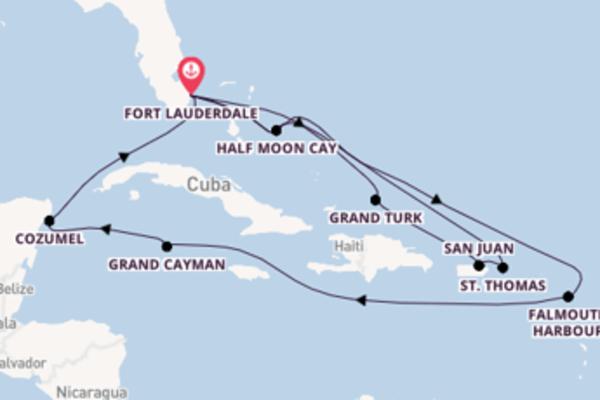 A bordo di MS Nieuw Statendam fino a Fort Lauderdale