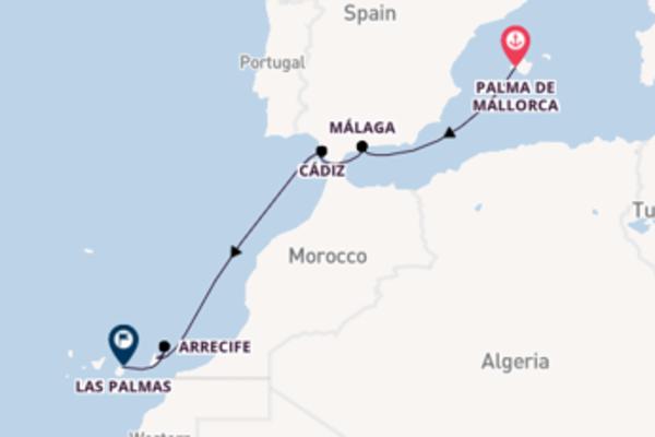 8-daagse droomcruise vanuit Palma de Mallorca