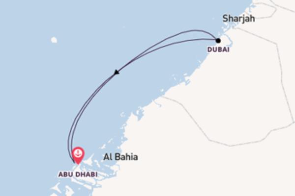 Von Abu Dhabi über Dubai in 5 Tagen
