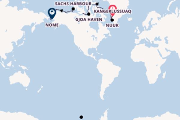 Cruise in 25 dagen naar Nome met Silversea