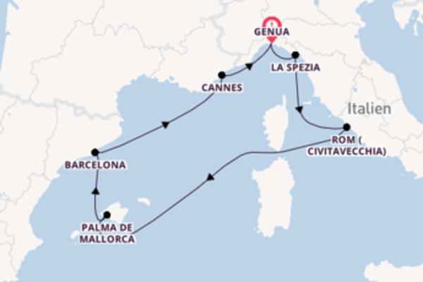 Genua und Barcelona entdecken