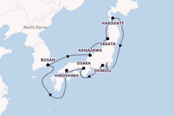 Cruise met Silversea naar het sprankelende Yokohama (Tokio)