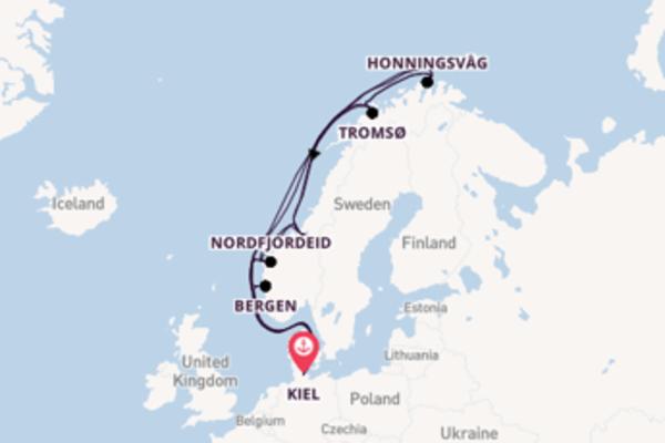22 day trip on board the MSC Splendida from Kiel