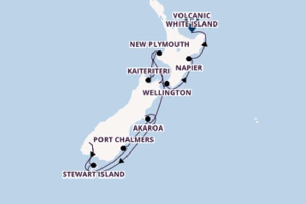 Wunderbare Kreuzfahrt über Lyttelton, Neuseeland nach Wellington, Neuseeland