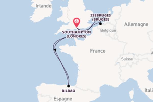 Charmante balade de 8 jours au départ de Southampton (Londres)