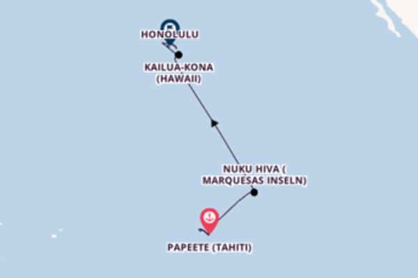In 15 Tagen nach Honolulu