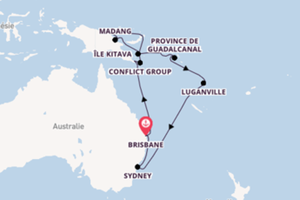22 jours pour découvrir Wewak au départ de Brisbane