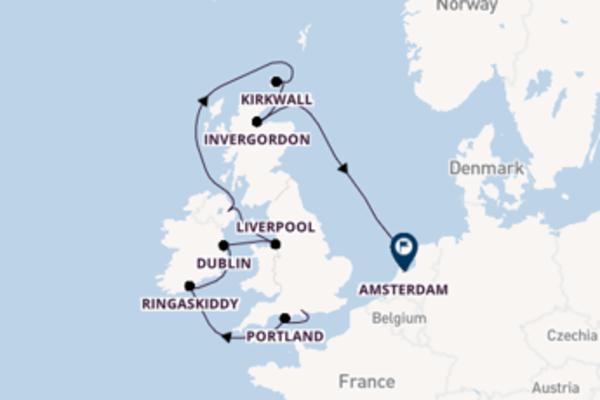 Cruise in 11 dagen naar Amsterdam met Norwegian Cruise Line