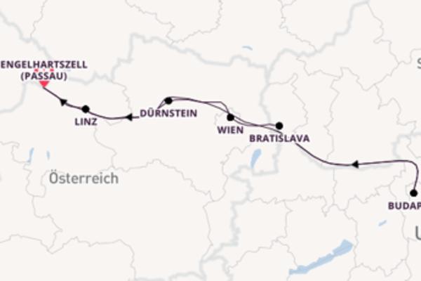 8 Tage Donau Reise