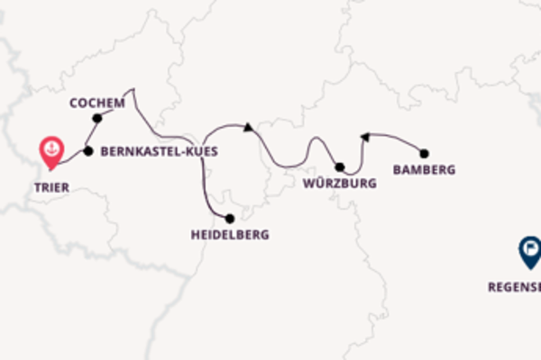 Journey with Viking River Cruises from Trier