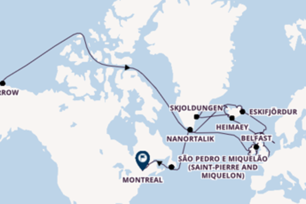 Deslumbrante passeio até Montreal
