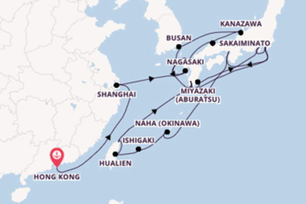 Cruise from Hong Kong with the ms Noordam