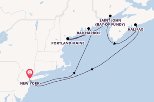 Geniet van het veelzijdige Bar Harbor met Norwegian Cruise Line