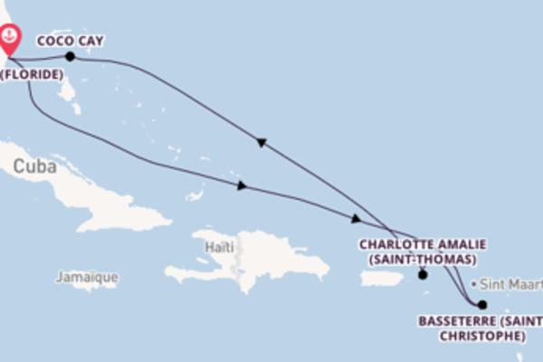 Dépaysante balade de 8 jours pour découvrir Basseterre (Saint-Christophe)