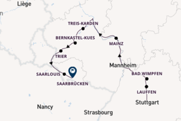Traumhafte Flusskreuzfahrt durch Deutschland