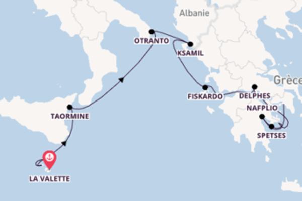 Croisière de 11 jours depuis La Valette avec SeaDream Yacht Club