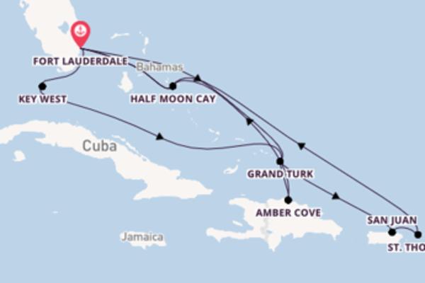 Cruise met Holland America Line naar Fort Lauderdale