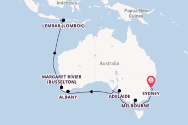 16-daagse cruise naar Melbourne