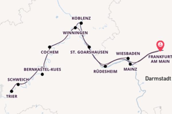 10-tägige Kreuzfahrt bis Frankfurt am Main