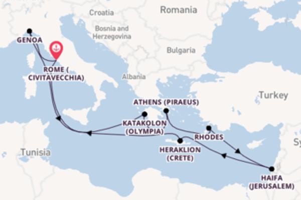 Cruising from Civitavecchia with the MSC Magnifica