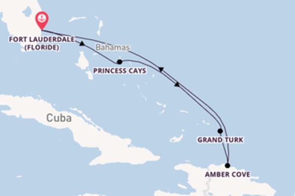 7 jours de navigation à bord du bateau Carnival Freedom  vers Fort Lauderdale (Floride)