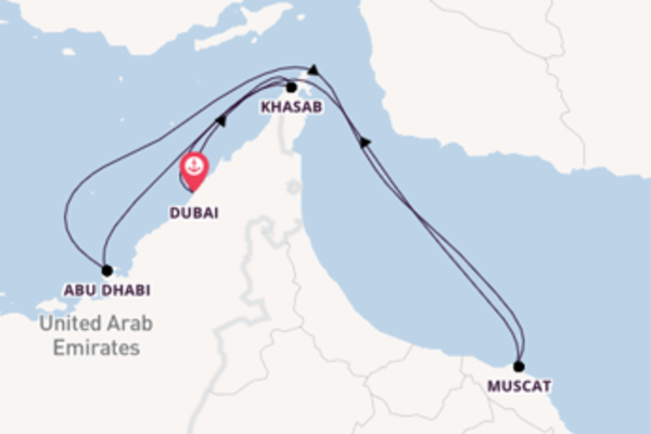 8-daagse cruise met de Mein Schiff 6 vanuit Dubai