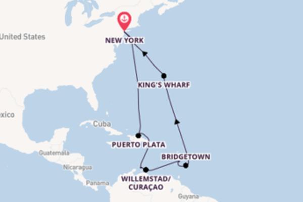 Passa per Royal Naval Dockyard salpando da New York