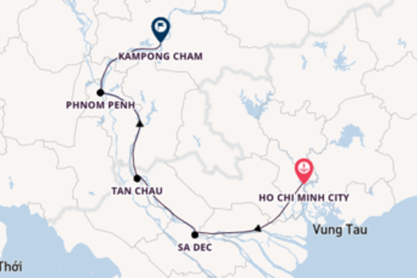 Vibrant cruise from Ho Chi Minh City with Viking River Cruises
