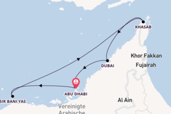 Eindrucksvolle Kreuzfahrt über Khasab ab Abu Dhabi